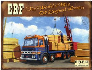 ERF Oil Engined Lorries large metal sign (og 2015)